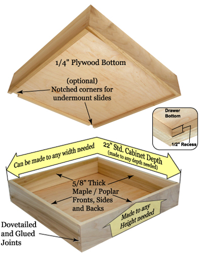 made order drawer cabinet box custom online boxes maple