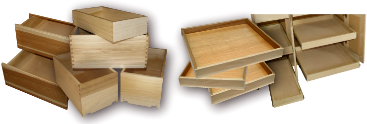 drawer box boxes cherry custom maple deep kitchen measuring cabinet